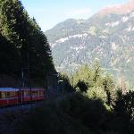 The train ride is part of the UNESCO heritage sites