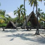 2 traditionelle Hütten