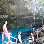 2nd stop Dos Ojos/snorkel in cave