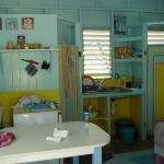 Yellow cottage interior