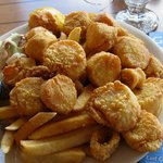 fried scallop platter