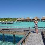 a bit of a hike for overwater bungalos!