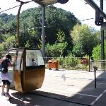 The cable car ride up. You have to move fast!
