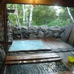 半露天風呂と内風呂