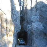 Be sure to drive to Cathedral Spires on nearby Needles Highway.