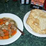 Mutton stew and frybread