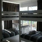 Bunkroom, small but functional with big balcony area.