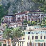 View of hotel from Lake Garda