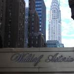 Waldorf with Chrysler building in background