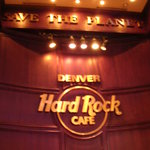 HRC Logo over stage in Denver Hard Rock