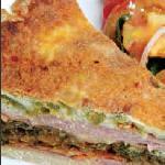 Ham, Spinache and Fetta Quiche with Green Salad