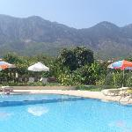 Pool view of the mountains