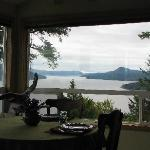 View from dining room, Double Mountain B&B