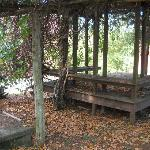 Vine-covered gazebo on the Inn's grounds