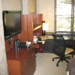 HDTV & Desk Area