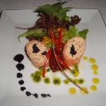 The salmon starter dish
