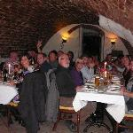 27 people in a cosy cellar!