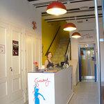 Reception Samay Hostel Sevilla