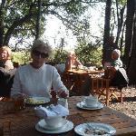 petit déjeuner en plein air