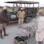 apéritif durant le safari