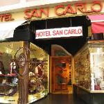 Entrance to Hotel San Carlo