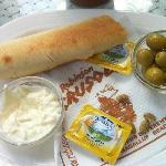 Olives, alioli & bread at Robinson´s