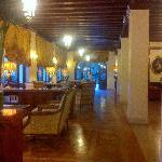 inside lobby of hotel