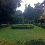 gardens adjacent to both villa and hotel lobby