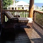 Lounge chair on balcony