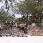 The steps down to the beach