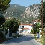 The road into the village