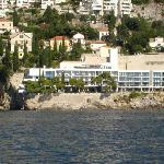 The hotel from the sea