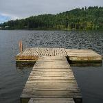 Boat jetty on the lake