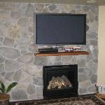 "50"" Plasma and gas fireplace"