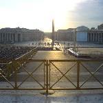 Piazza di  San Pietro vista dalla zona