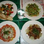 Great presentation of food