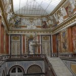 entrancehall of the chateau