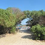 Vista spiaggia dal mini club