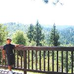 vue depuis la terrasse de la yourte