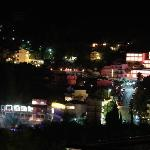 Night view of the village from the room