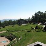 The Inn has a wonderful large well-kept lawn for activities.  The white chairs were set up for o