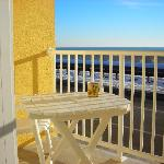 Every unit has a private balcony overlooking the Atlantic Ocean