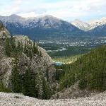 Blick vom  schwierigeren Trail auf Canmore