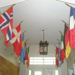 Entry Hall with Flags