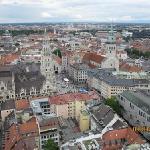 an aerial view of Marienplatz & Munich