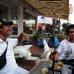Lao Silk Hotel's terrace