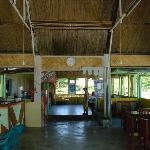 Inside Kelayang Cottages restaurant