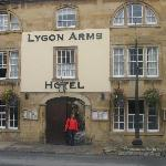 Outside the Lygon Arms