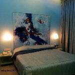 Studio apartment bedroom