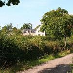 approaching Castle Farm Usk